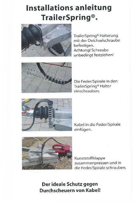Montageanleitung des Kabelschutzes Trailer Spring