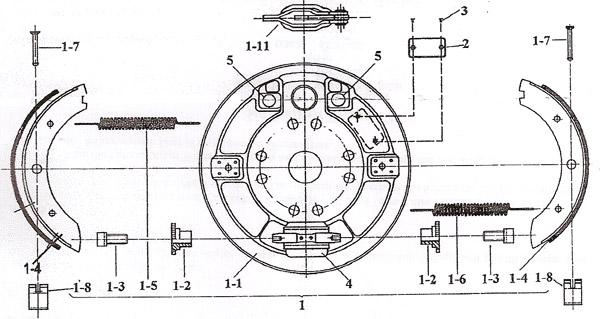 Hahn Bremse Typ B Zeichnung