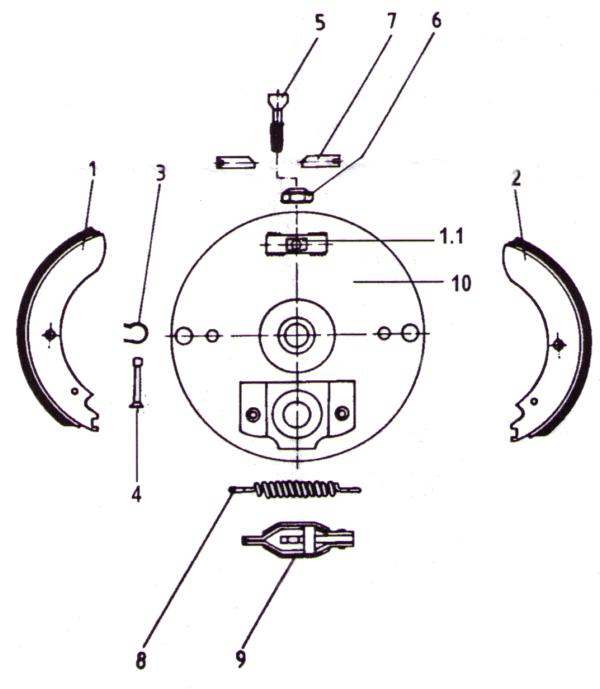Nieper Radbremse GU230/GU250